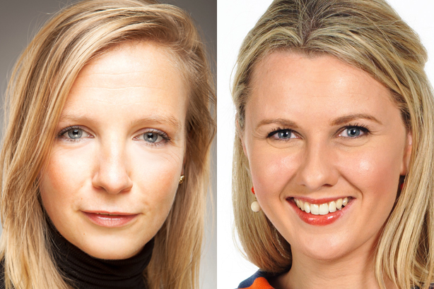 New roles: Sophie Goodall (left) and Claire Matthews