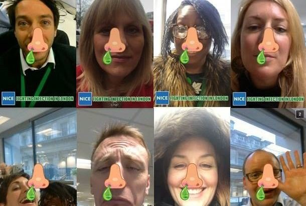 NICE staff experiment with Snapchat's geofilters for a new campaign pitched at young people