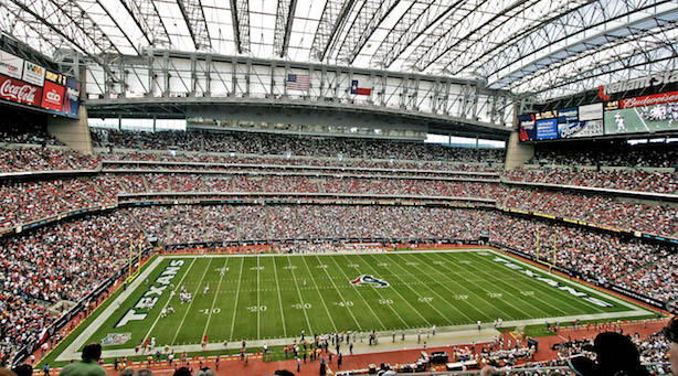 NRG Stadium in Houston, the site of Super Bowl LI. (Image via Wikimedia Commons, by User eschipul on Flickr - From Flickr; description page is (was) here, CC BY-SA 2.0)