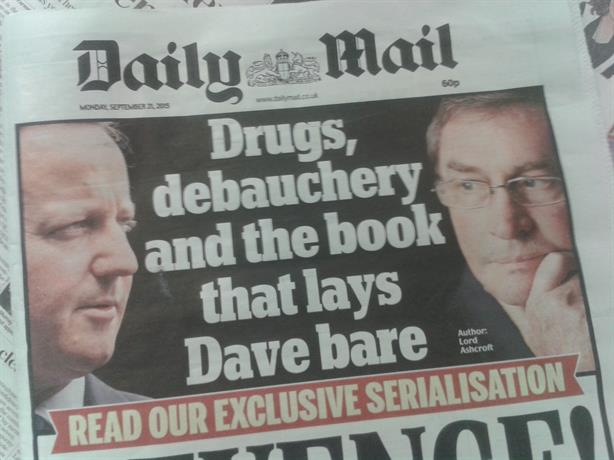 Allegations: Lord Ashcroft's biography is being serialised in the Daily Mail