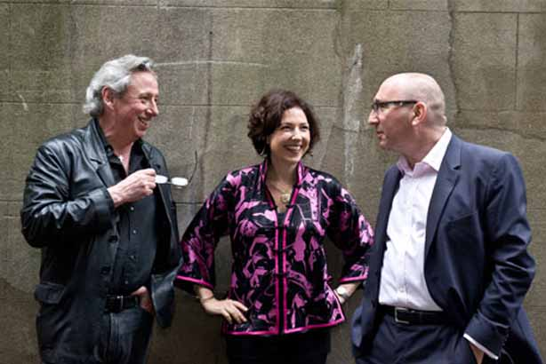 New role: Pitcher (left) with Jericho Chambers colleagues Christine Armstrong and Robert Phillips