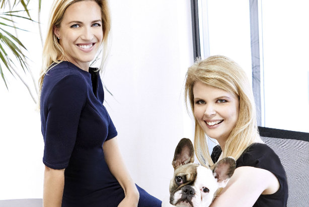 Anna Hope (l) and Karen Lane: Joining forces (also pictured is office dog Pixie Lola)