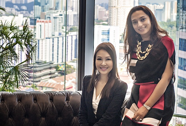 Servcorp's Trinh Danh and Rice Communications' Sonya Maderia
