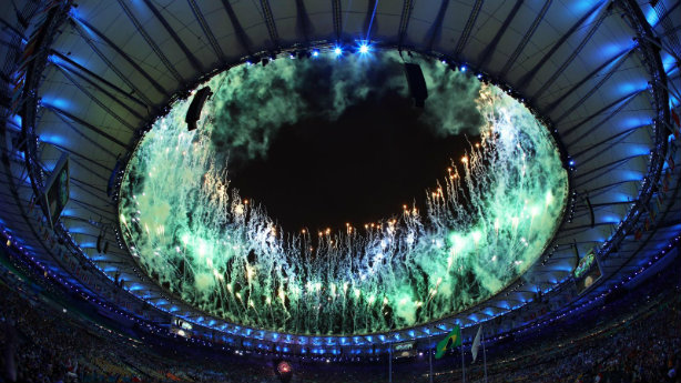 The closing ceremony of the Olympic Games in Rio (Credit: Getty Images/Patrick Smith)