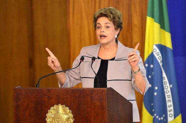Brazilian President Dilma Rousseff in crisis. (Image by Antonio Cruz - Agência Brasil, CC BY 3.0)