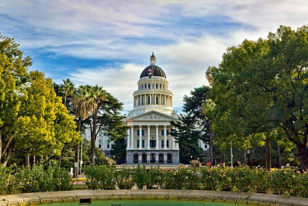 The California State Capitol in Sacramento
