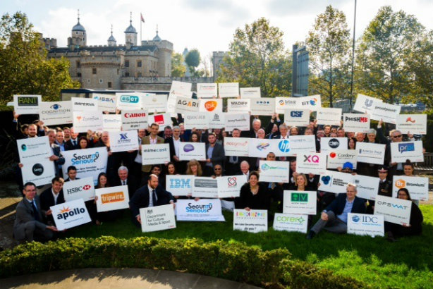 Security Serious Week: Supporting organisations gathered by the Tower of London yesterday (Credit: Julian Dodd)