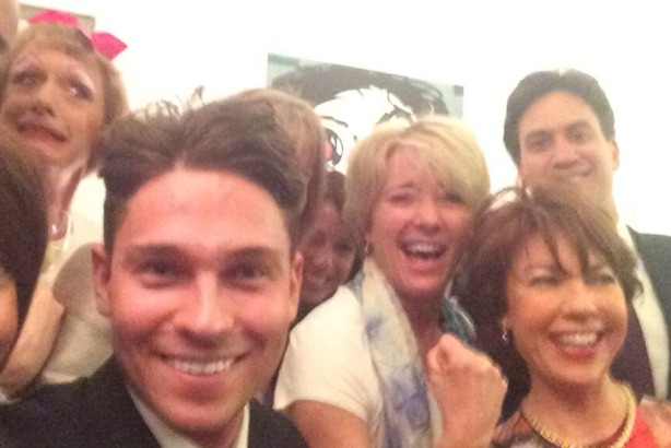 'Selfie of the Year': Ed Miliband's selfie with Joey Essex and Emma Thompson