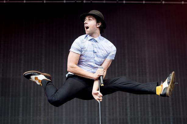 Maximo Park frontman Paul Smith - seen here at last year's T In The Park festival - has been drafted in as an influencer in the mayoral election campaign (pic credit: Deadline News/REX/Shutterstock)