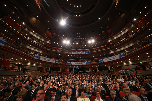 Conservative Party Conference attendees: ready for business messages? (Credit: James Gourley/REX/Shutterstock)