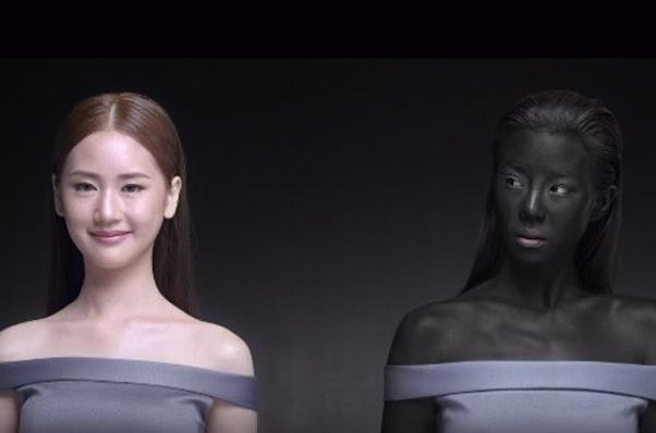 The Seoul Secret ad for new skin-whitening pill Snowz (screen grab)