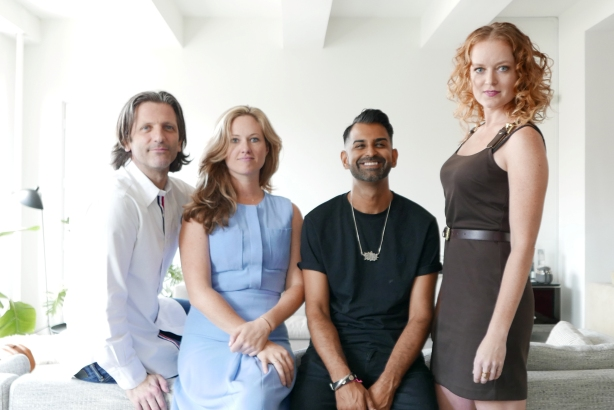 (Left to right) Oliver Hicks, founder of North Six; Mikey O'Brien, director at Storey; Rana Reeves, founder of Storey; Courtney-Brooke Johnson, digital director at Storey