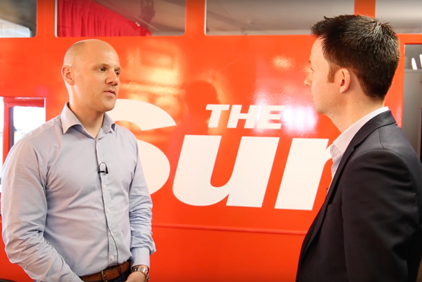 The Sun deputy editor Will Payne (left) talks to PRWeek's John Harrington