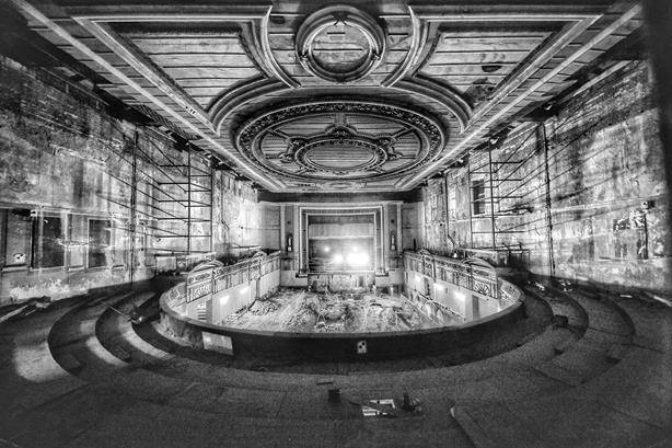 The Victorian theatre at 'Ally Pally' opened in 1875 and seated 2,500 (credit: Keith Armstrong)