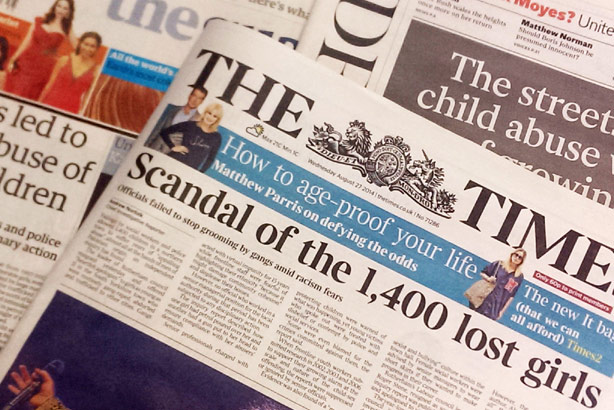 The Times: Played a role in exposing child abuse in Rotherham