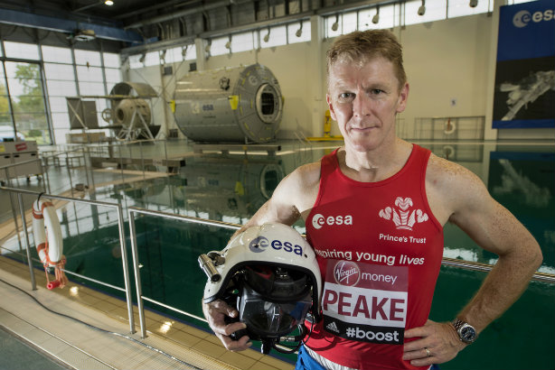 Lots of small steps for man: Astronaut Tim Peake will run the marathon (Credit: Virgin Money London Marathon)