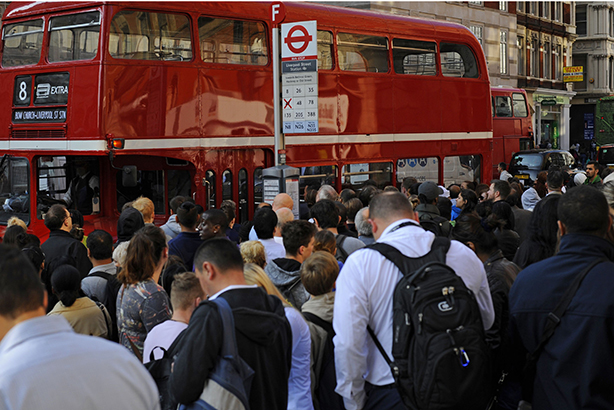 Commuter chaos: Tube strike in London (credit: Lauren Hurley/PA Wire)