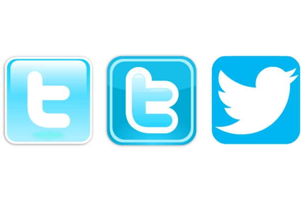 Three versions of the Twitter app logo.