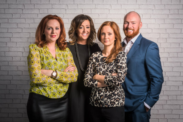 House of Comms leadership staff: from left to right director Naomh McElhatton and managing partners Abby Wilks, Kaja Weller and Jamie Wilks