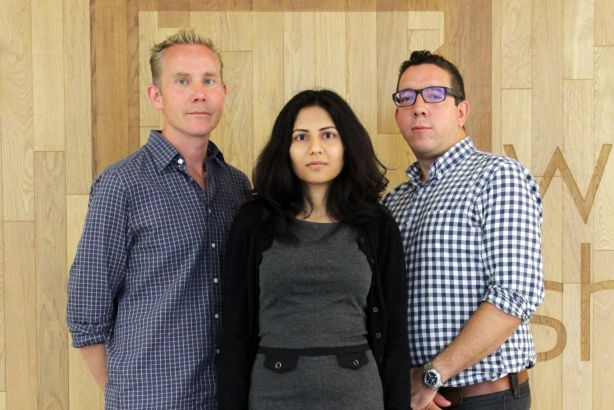Digital hires: (l-r) Andrew Phillips, Parmita Ghosh and Al Berry