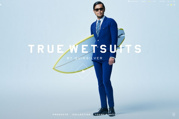 Among the winners: 'True Wetsuits' for Quiksilver