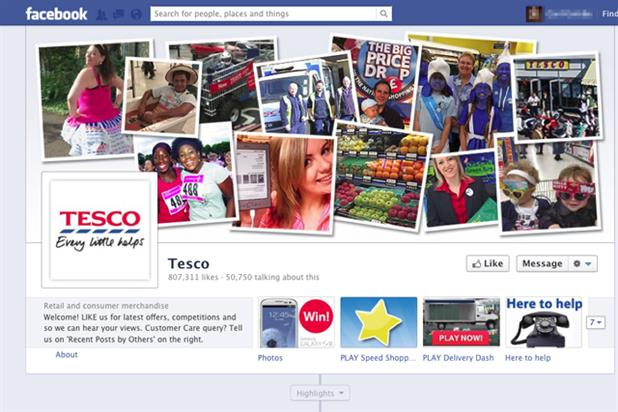 Tesco: 800,000 'Likes' on Facebook