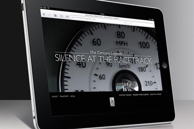 Rolls-Royce iPad ad features video content