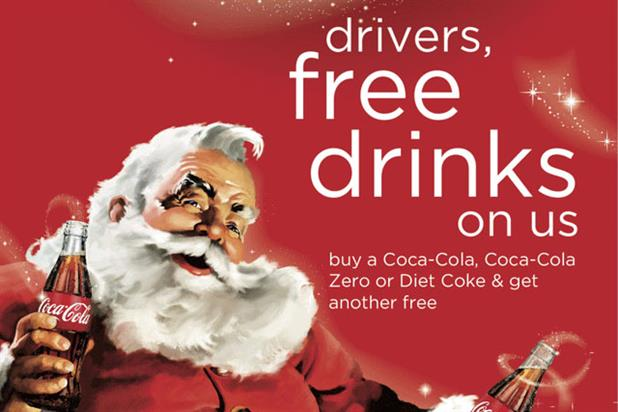Coca-Cola: festive campaign promotes free soft drinks offer to designated drivers