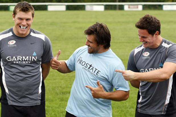 Prostate Cancer Charity: rugby stars support the campaign