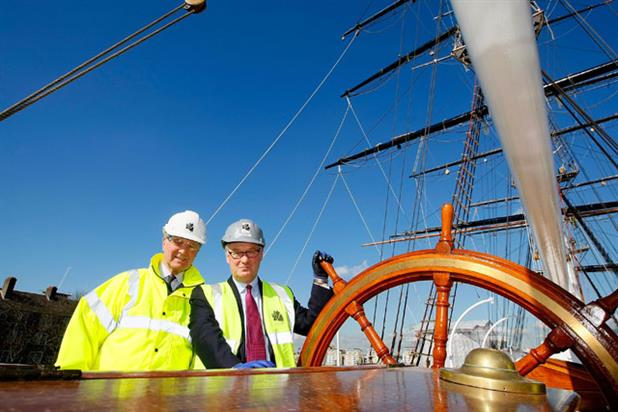 Cutty Sark: HSBC Group chairman Douglas Flint and Cutty Sark Trustee Lord Sterling
