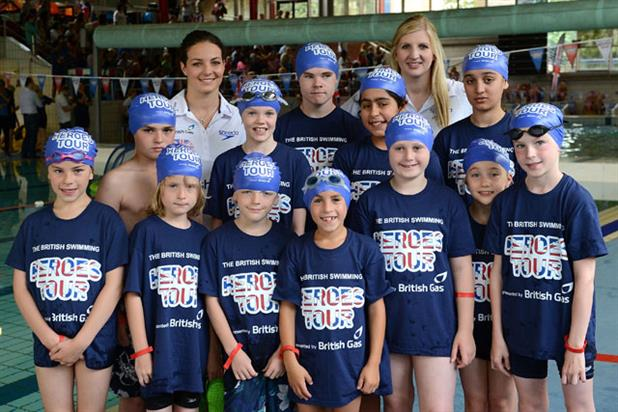 Swim squad: Keri-Anne Payne and Rebecca Adlington front British Gas campaign