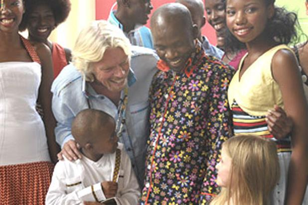 Richard Branson: visiting the Centre of Entrepreneurship in Johannesburg