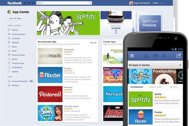 Facebook's US app store: launching in UK