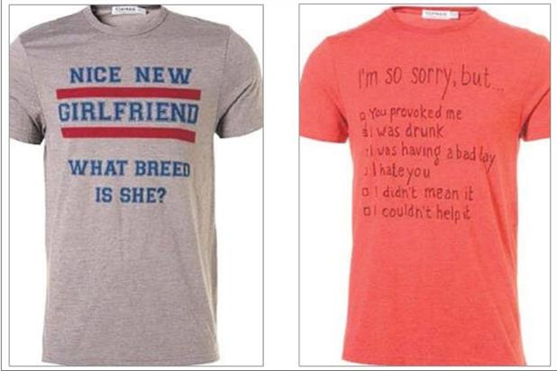 Topman T-shirts: withdrawn from stores after criticism