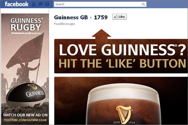 Guinness: owner Diageo strikes deal with Facebook