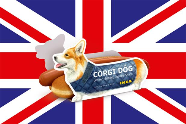 Jubilee-themed LIDA campaign for IKEA