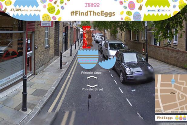 Tesco: runs online Easter egg hunt