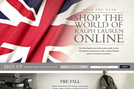 Ralph Lauren online: e-commerce site debuts in the UK