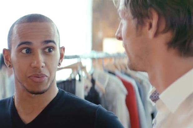Teamates: Lewis Hamilton and Jenson Button star in Vodafone shoot