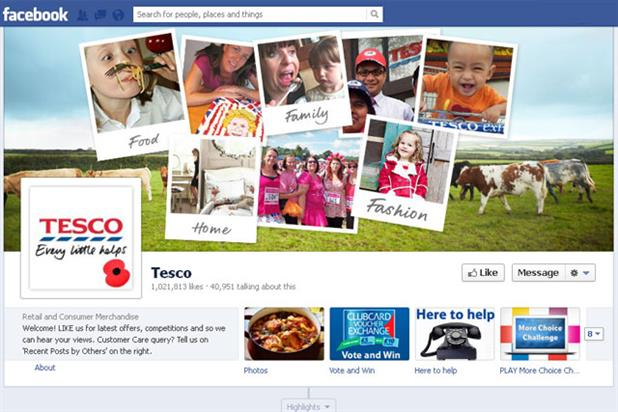 Tesco: runs crowdsourcing campaigns on Facebook page