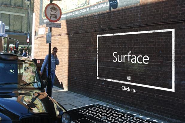 Microsoft: Surface street art campaign