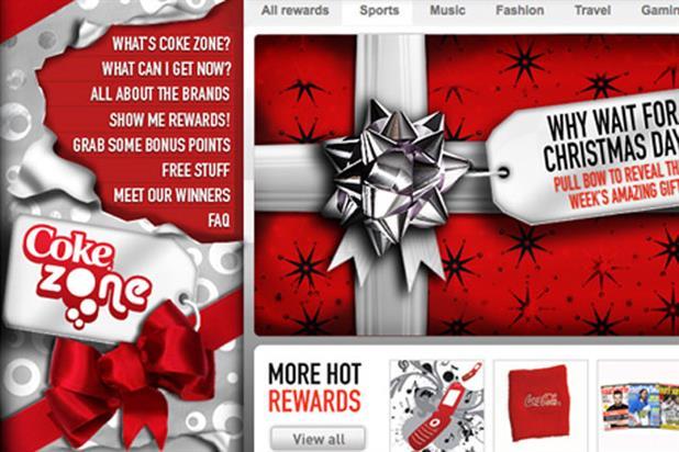 Coke Zone: online activity by Carlson Marketing