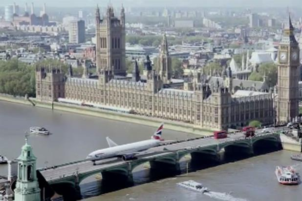 British Airways: airliner taxis through London in latest Olympics ad campaign