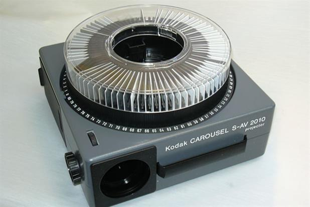 First carousel slide projector: by Eastman Kodak i