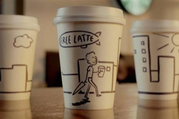 Starbucks: animated TV tries the friendly approach