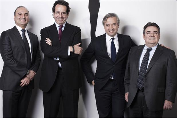 Havas Media management team: (from left) Jordi Ustrell, Dominique Delport, Alfonso Rodes and Michel Sibony