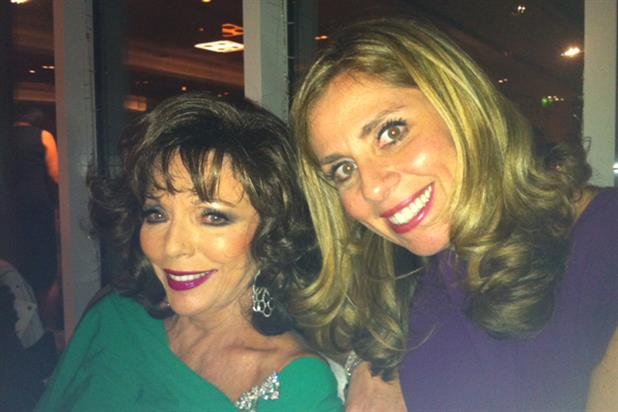 Joan Collins with friend of the stars Nicola Mendelsohn