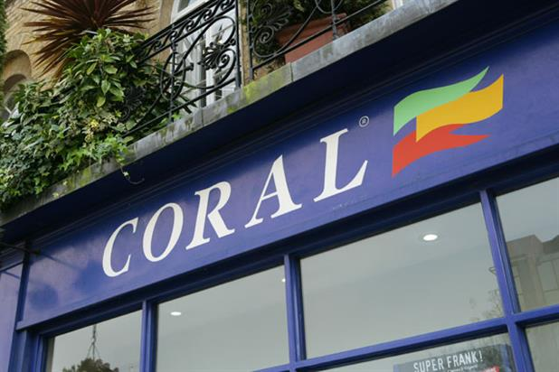 Coral: the bookmaker is part of the Gala Coral Group