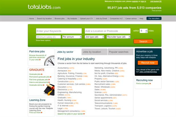 Totaljobs: appoints ZenithOptimedia