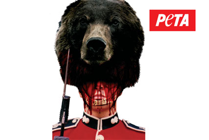 Peta: unveils military anti-fur campaign
